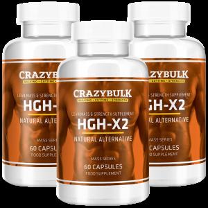 3 bouteilles de HGH-X2